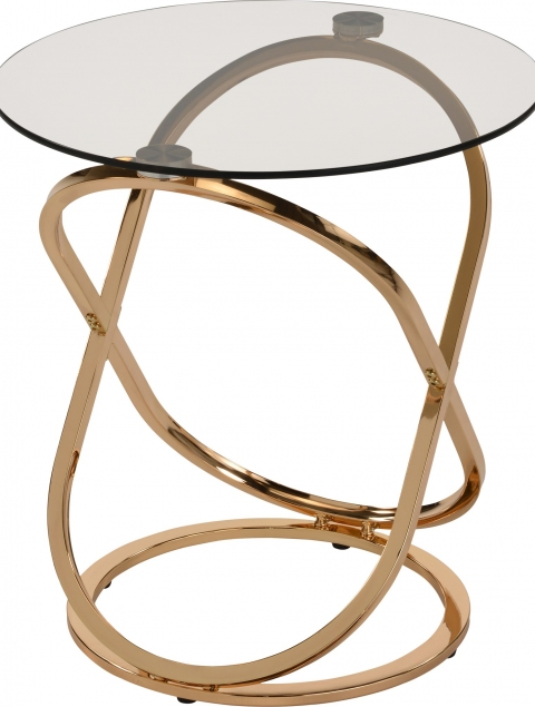 Carlyn Accent Table in Gold