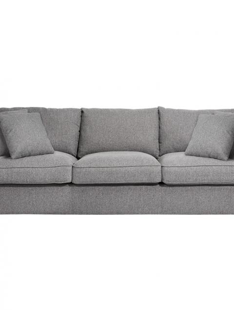 Prince Grey Fabric 3 Seater